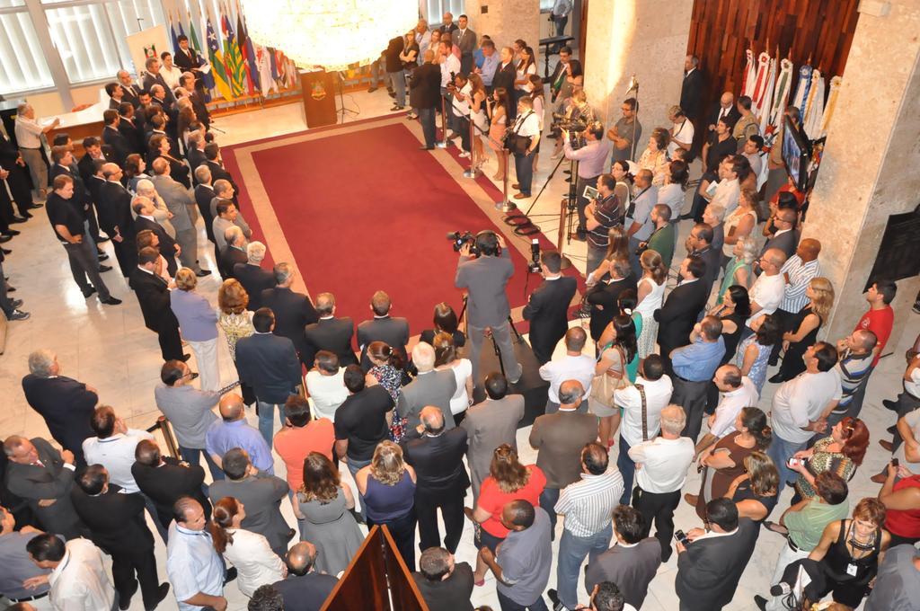 Salão Júlio de Castilhos lotado na cerimônia que marcou a instalação das comissões permanentes
