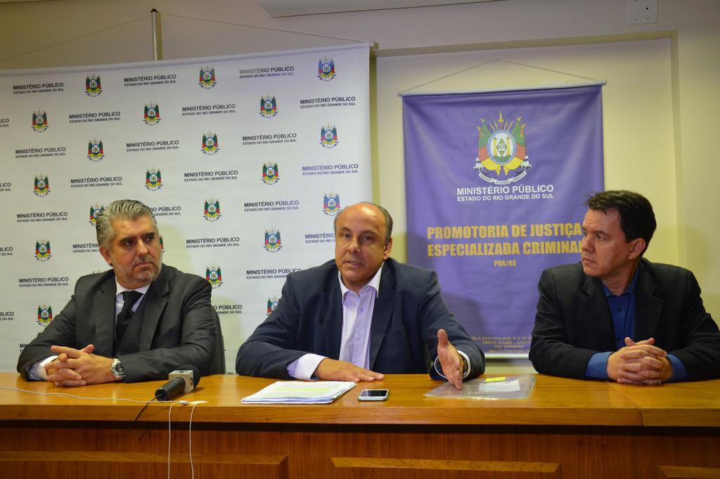 Geraldo Da Camino, Mauro Rockembach e José Seabra durante a coletiva